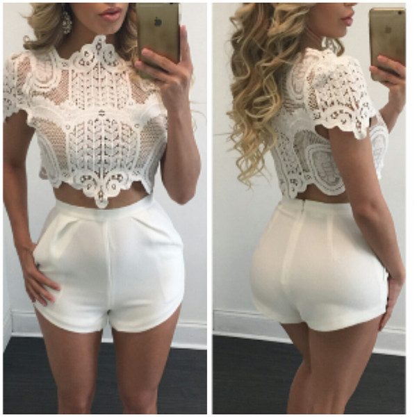 Kate White Lace Crop Top