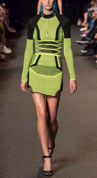 dress black green style