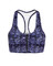 Zippered sports bra