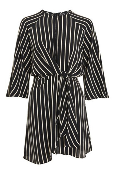Topshop dress wrap dress monochrome