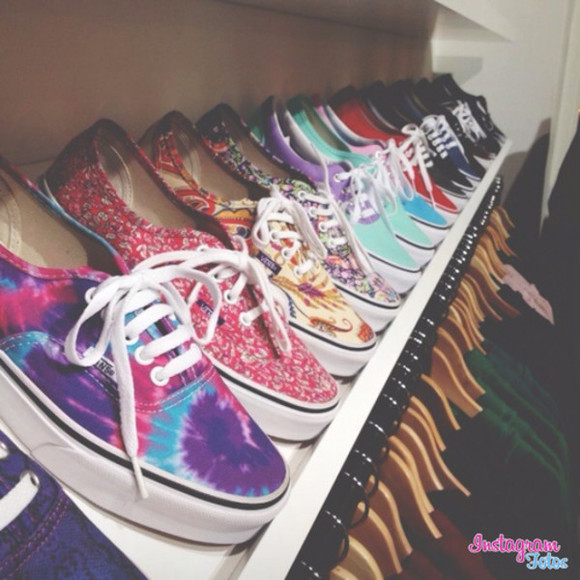 shoes vans tie dye cool