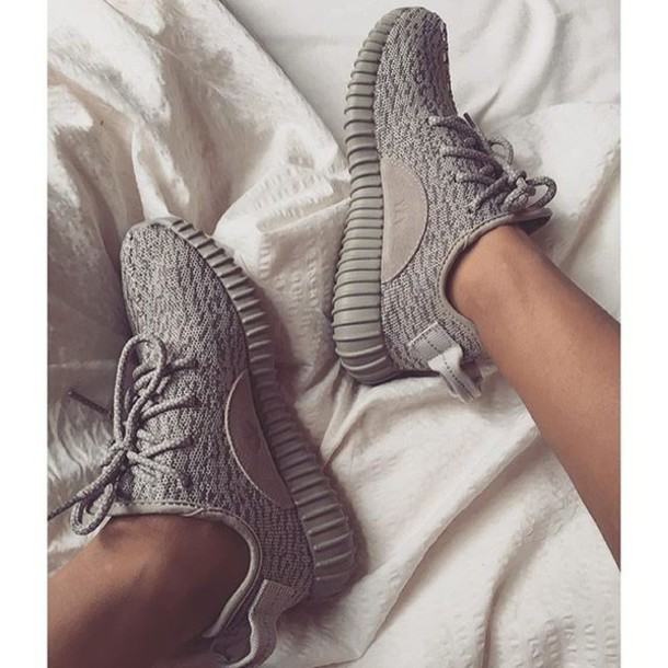 Adidas Yeezy White And Grey