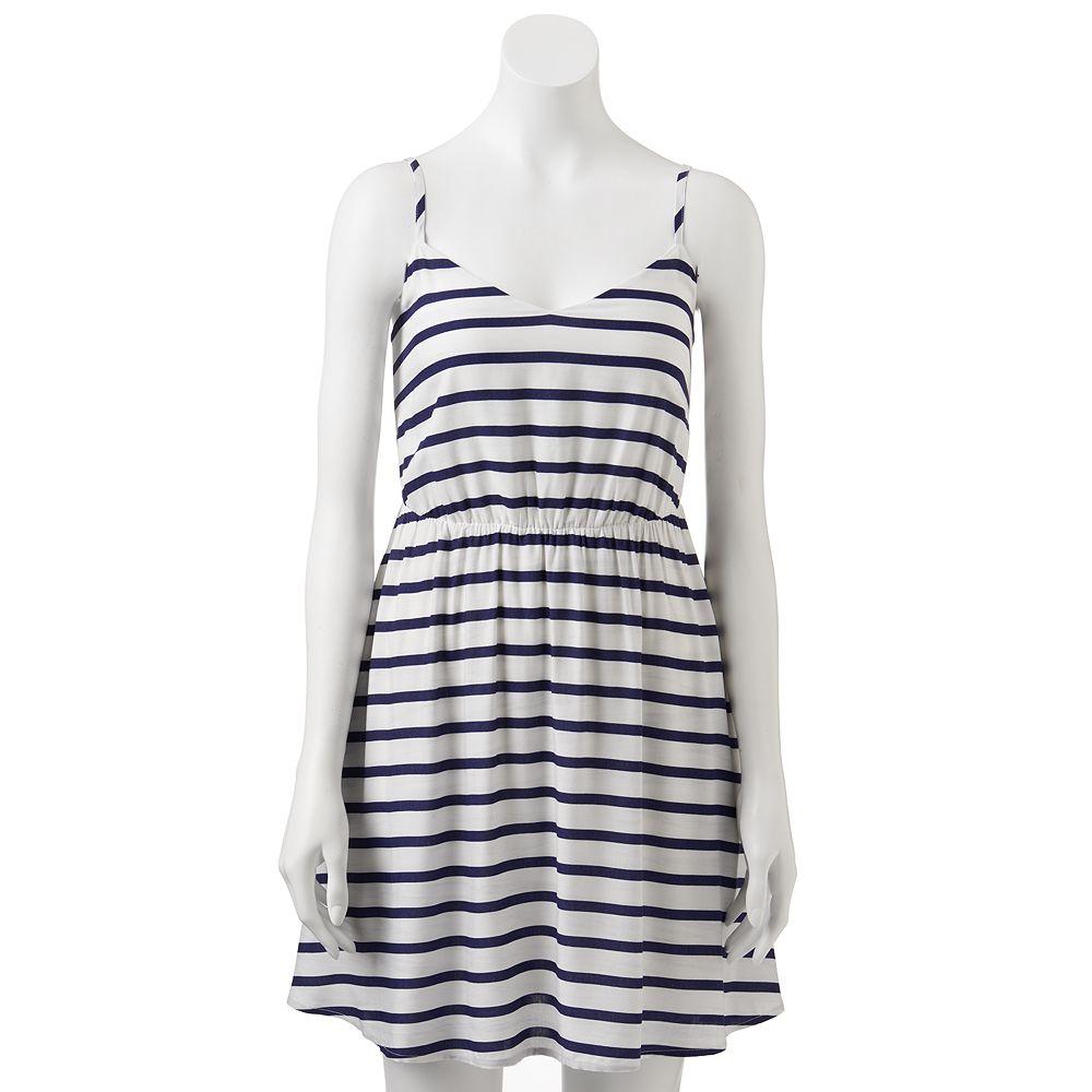 Lc lauren conrad striped challis dress