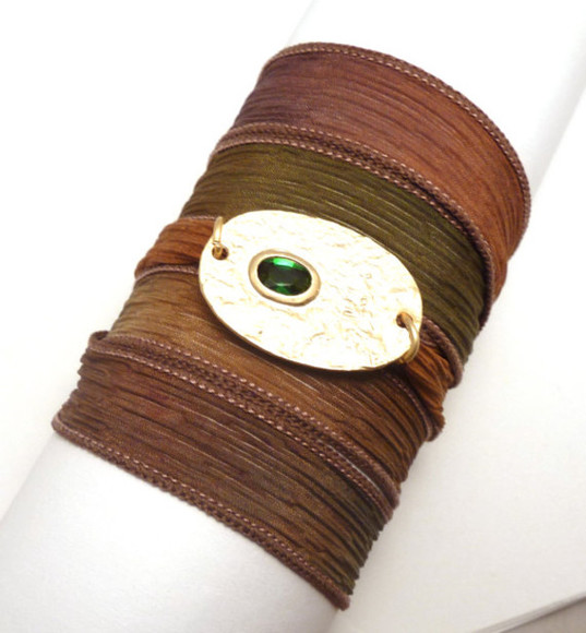 jewels wrap bracelet silk ribbon bracelet costume jewelry