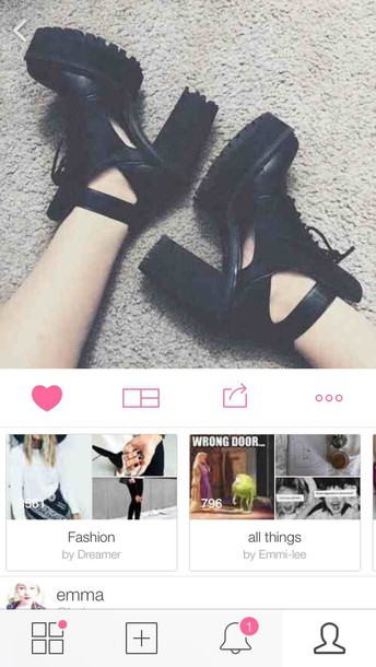 shoes black heels heels grunge black boots