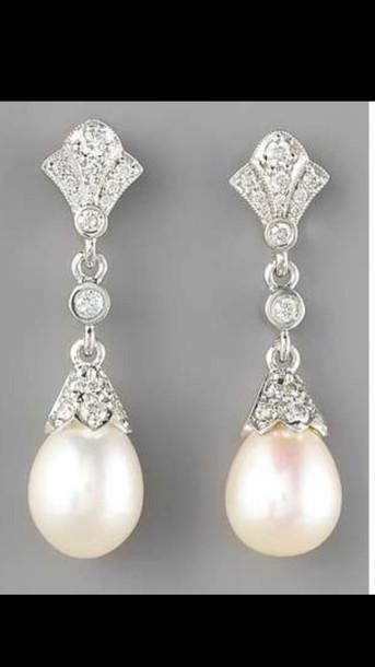 jewels pearl earrings earrings