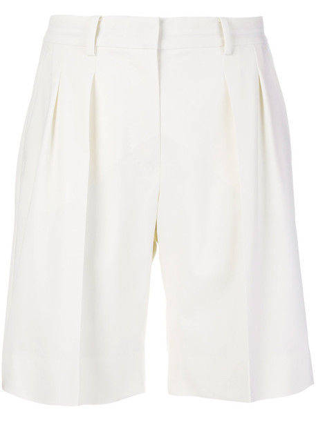 shorts pleated women spandex nude wool