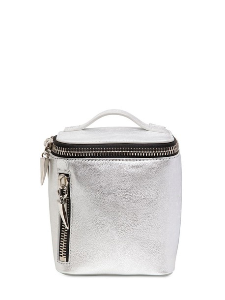 GIUSEPPE ZANOTTI DESIGN metallic backpack leather backpack leather silver bag