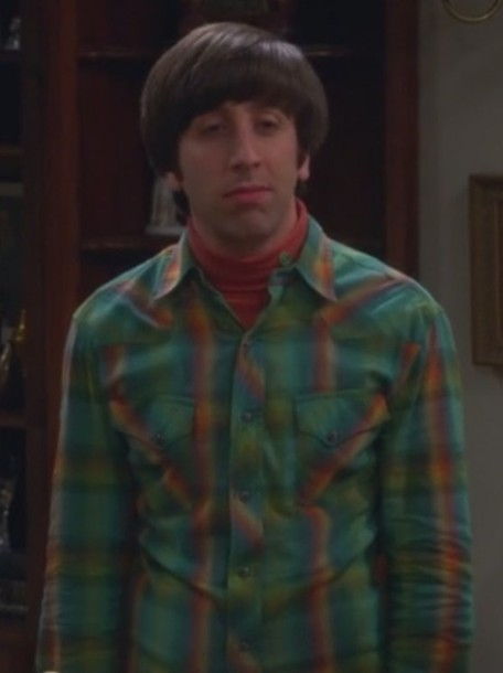 shirt howard wolowitz simon helberg big bang theory plaid green