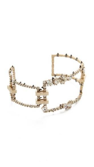 cuff clear cuff bracelet gold jewels
