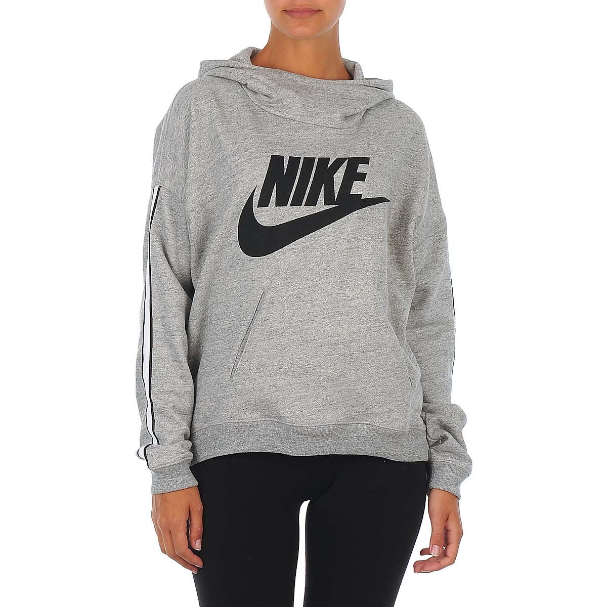 Sweatshirts Nike NIKE DISTRICT 72 HOODY Grå / Sort - Gratis levering med Spartoo.dk ! - textil Dame 380,25 Kr