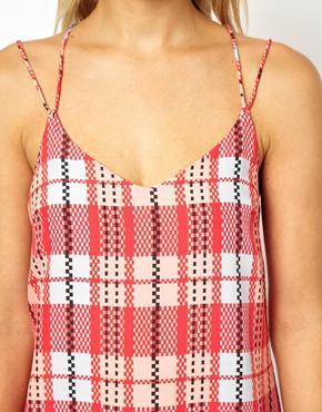 ASOS | ASOS Check Print Midi Cami Dress at ASOS