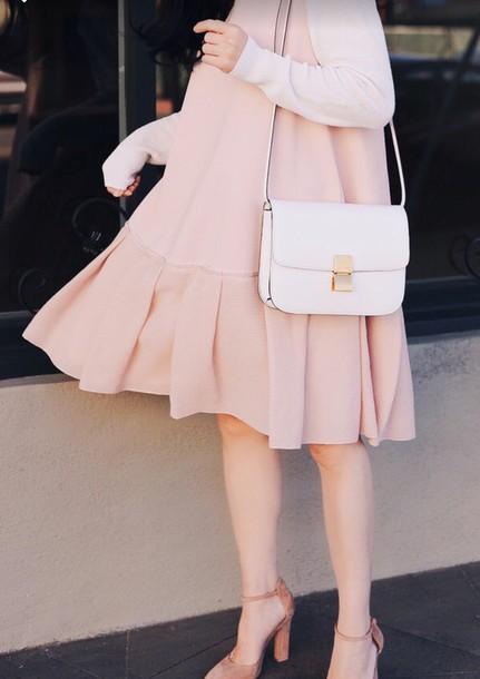 dress, pink, pink dress, pastel pink