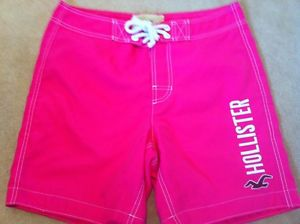 Men's Dudes Swim Board Shorts From Hollister Size M Bright Pink | eBay