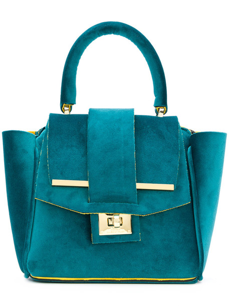 mini women bag tote bag velvet green neoprene