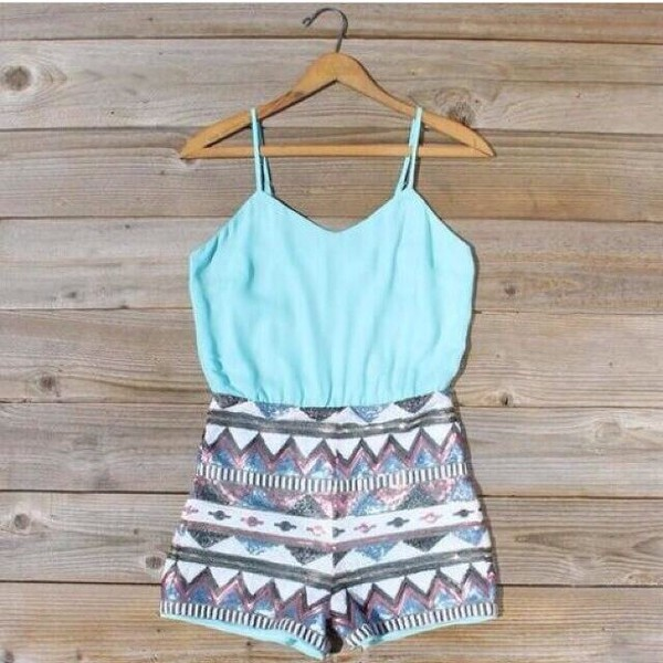 jumpsuit summer feelings aztec cute romper