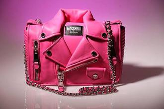 bag moschino purse pink bag