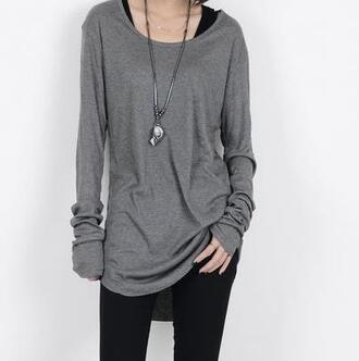 top clothes long sleeve shirt loose top