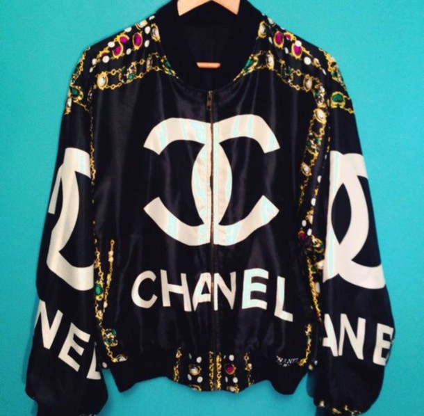 Coat: vintage, cc, designer, chanel bomber, bomber jacket - Wheretoget