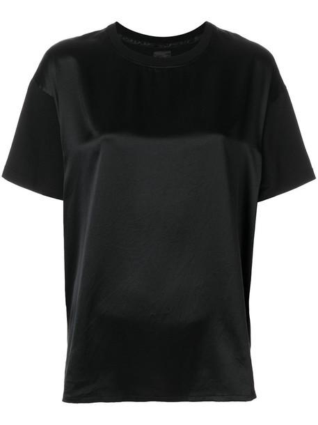 DONDUP t-shirt shirt t-shirt women cotton black silk top