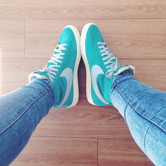 shoes turquoise top shoe light cerulean high tennis