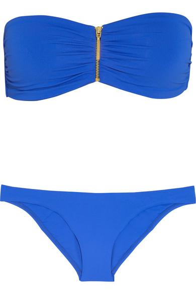 sumatra zipped bandeau bikini