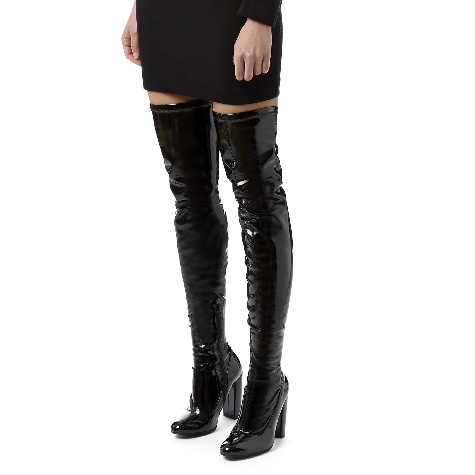 Black High Heel Over The Knee Boots by Carvela Kurt Geiger | Kurt ...