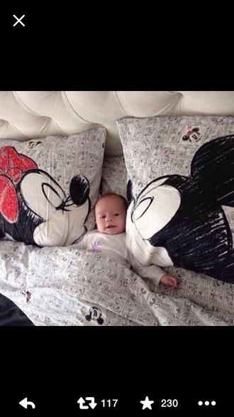 home accessory bedding disney mickey mouse black and white