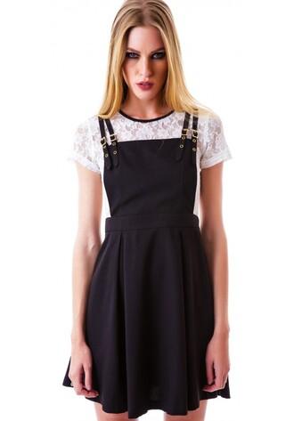 dress overalls overall dress sweater dress jumper black pinafore dress