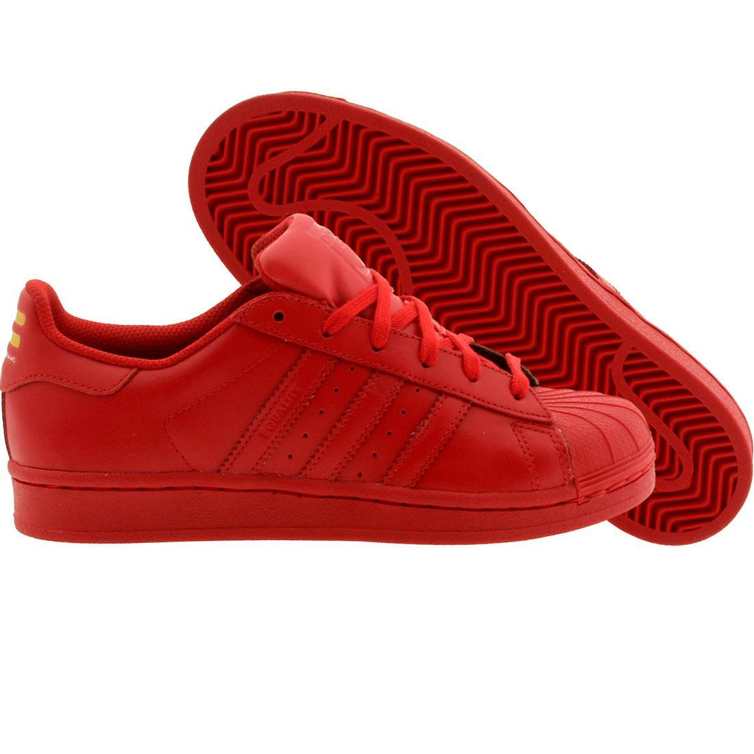 x Pharrell Big Kids Superstar - Supercolor (red) Shoes S31608 ...