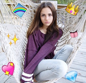 shirt purple red sweater white top striped shirt maggie lindemann maggie lindenmann style shoes jeans