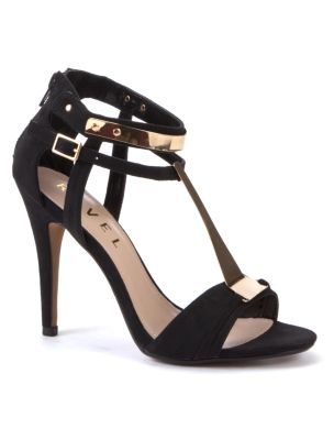 Ravel Black Metal Detail Party Sandals