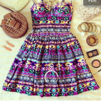 dress geography geometric aztec vintage bustier crop top bustier dress handmade