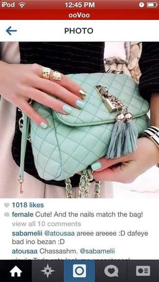 mint green bag crossbody bag