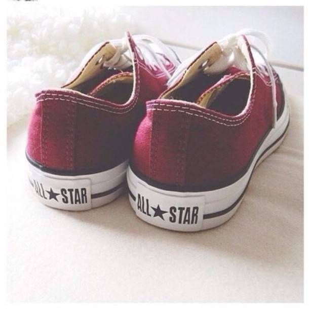 shoes red granate burdeos converse tumblr hipster fashion burgundy
