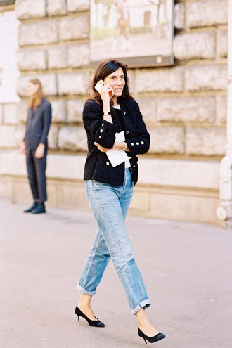 vanessa jackman blogger jacket shoes blue jacket pumps blazer