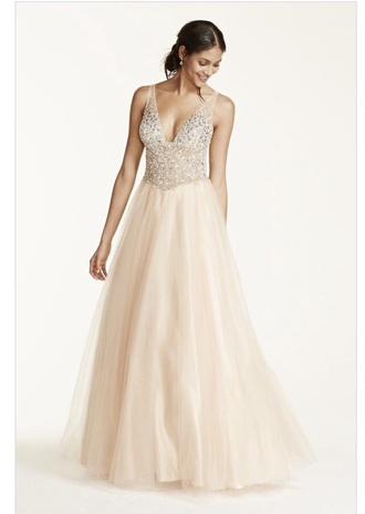 dress prom dress nude dress