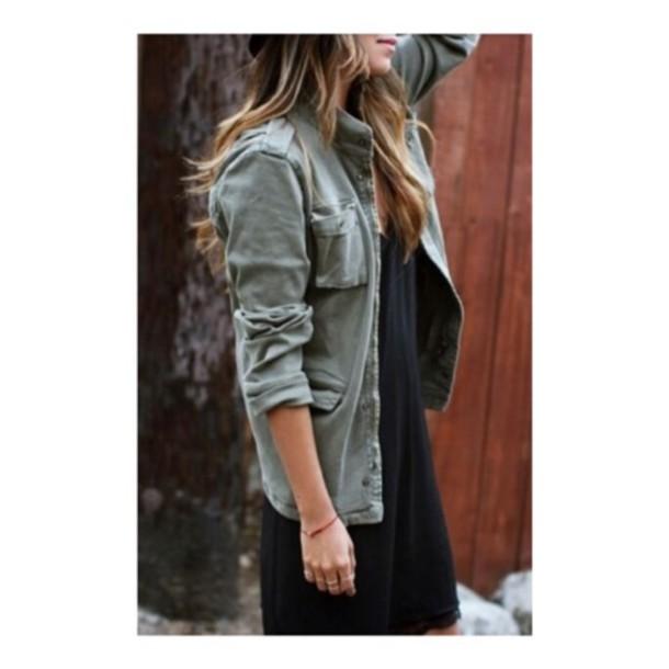 jacket denim armyjacket army green jacket faded green grayish