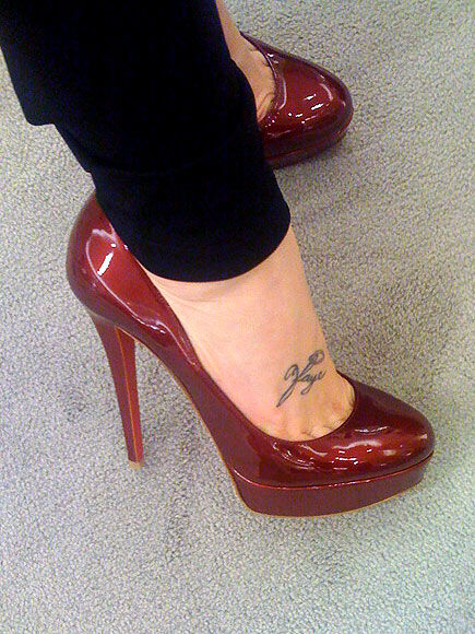 shiny shoes red high heels vinyl