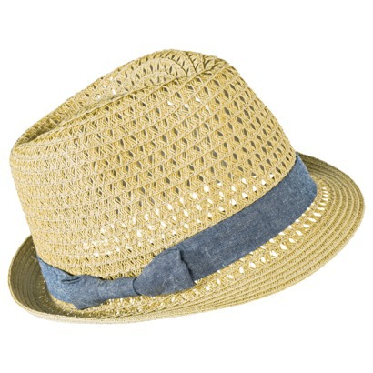 Mossimo Supply Co. Fedora Hat with Denim Bow Sas... : Target