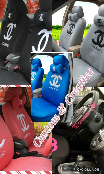 Home Accessory Chanel Inspired Car Seat Cover Designer