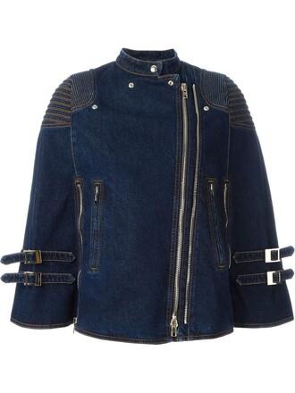 jacket biker jacket denim blue