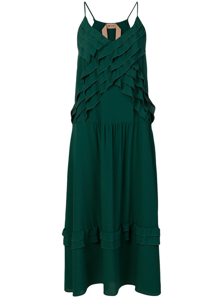 No21 dress slip dress women silk green