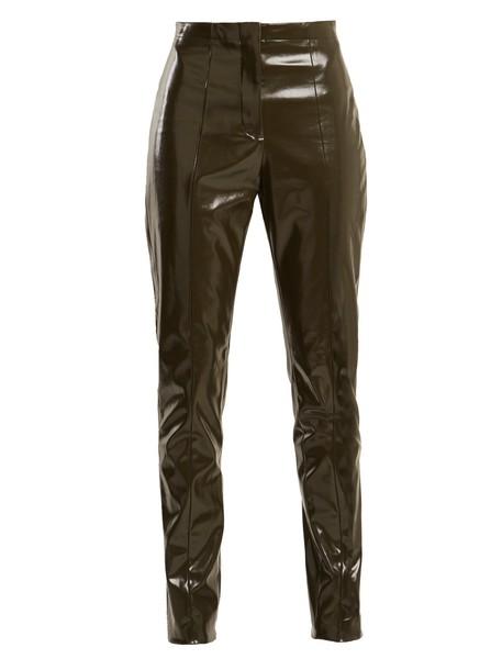 Acne Studios vinyl dark grey pants