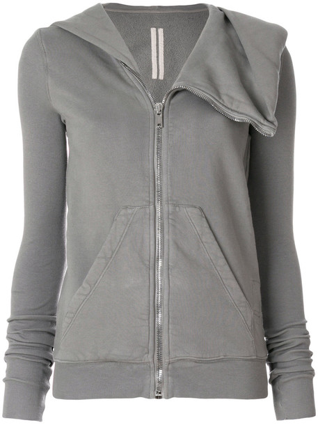 Rick Owens Drkshdw - oversized hood sweatshirt - women - Cotton - L, Grey, Cotton