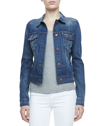 J Brand Jeans Slim-Fit Denim Jacket, Archaic - Neiman Marcus