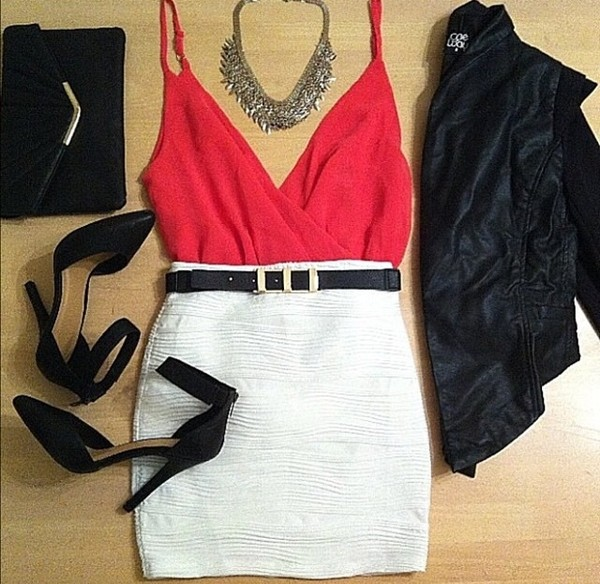 tank top red top v neck red