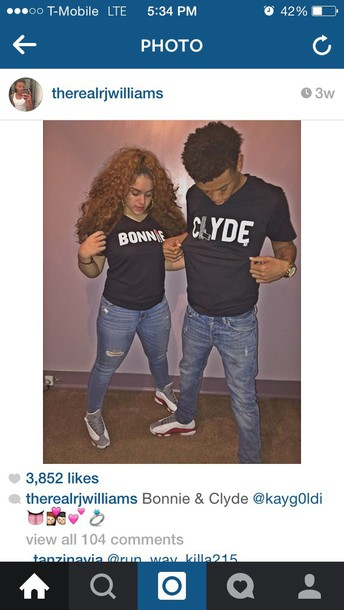 t-shirt bonnie and clyde bonnie clyde couples shirts shirt