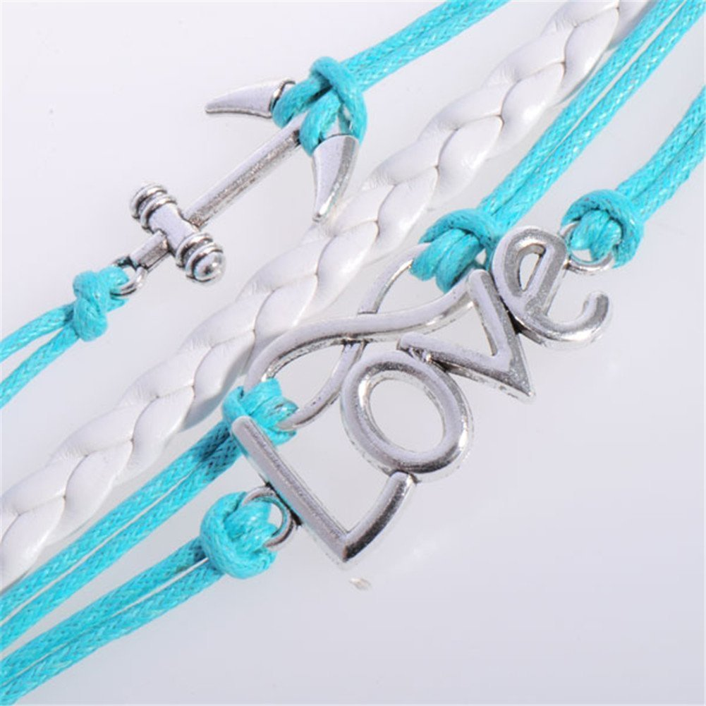 Amazon.com : Mae & Mee Fashion Retro Knit Strands Suede Rope Bracelet Gift : Beauty