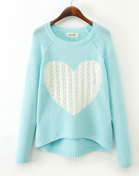 Cute heart after a short long before turtleneck sweater short style